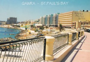 Qawra Palace Hotel St Pauls Bay Malta Postcard