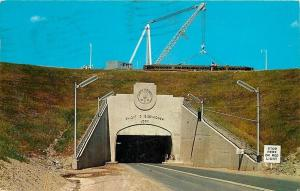 St Lawrence Seaway New York~Dwight D Eisenhower Lock~Tunnel Under~1963 Postcard