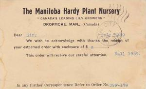 The Manitoba Hardy Plant Nursery, Dropmore, Manitoba, Canada, PU-1939