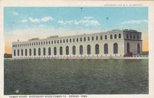 Exterior, Power House, Mississippi River Power Co., Keokuk, Iowa,  PU-1925