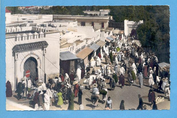 AFRICA MOROCCO TANGER NATIVE MARKET 1950 YEARS POSTCARD AFRIKA AFRIQUE