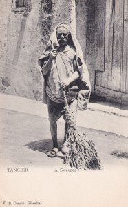 TANGER, Morocco, 1900-1910's; A Sweeper