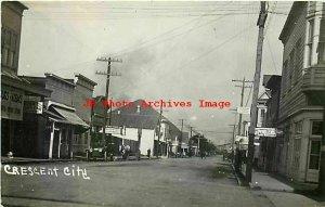 CA, Crescent City, California, RPPC, Main Street, Business Section