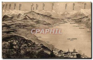 Old Postcard Lac Leman