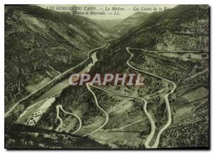 Old Postcard the Gorges du Tarn Malene the laces of the Route du Causse Meyrueis