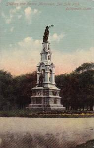 Connecticut Bridgeport Soldiers And Sailors Monument Sea Side Park 1918