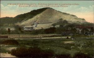 Panama Canal Ancon Quarry c1910 Postcard