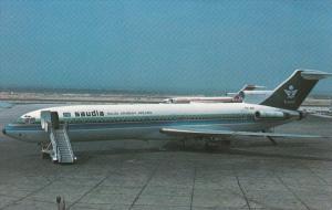 SAUDI / Saudi Arabia Airlines Boeing 727-2H3 airplane , 60-70s