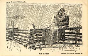 Who cares?   Artist: Charles Dana Gibson       (Romance)