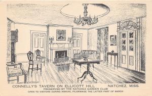 Natchez Mississippi~Connelly's Tavern-Ellicott Hill~Preserved by Garden Club~40s