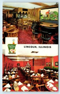 LINCOLN, IL  ~ Route 66 ~ HOLIDAY INN  c1960s Roadside  Logan County Postcard