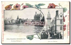 Old Postcard Paris Expo Pavilions Foreign Nations Wharf