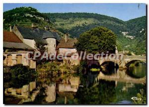 Postcard Modern Vuillafans Le Vieux Pont Sur La Loue