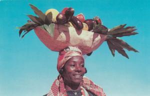 PORT AU PRINCE, Haiti, 50-60s; Vegetable and Fruit Vendor