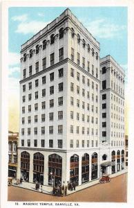 C49/ Danville Virginia Va Postcard c1915 Masonic Temple Building 2