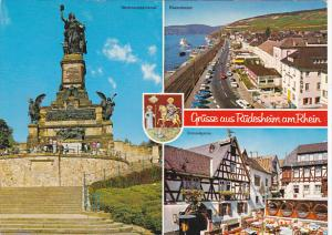 Germany Greetings Gruss Aus Ruedesheim Multi View
