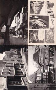Dinan Vieilles Maisons 4x 1960s Real Photo Postcard s