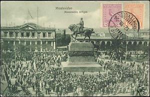uruguay, MONTEVIDEO, Monumento Artigas (1924) Stamps