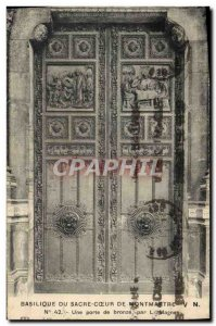 Old Postcard Basilica Of Sacre Coeur From Montmartre A brone door L Magne