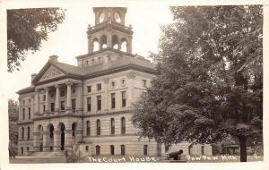D53/ Paw Paw Michigan Mi RPPC Postcard County Court House 1937   1