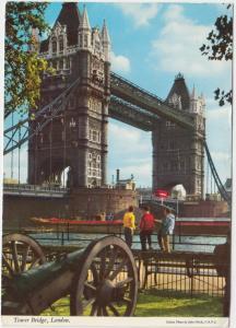 Tower Bridge, London, used Postcard