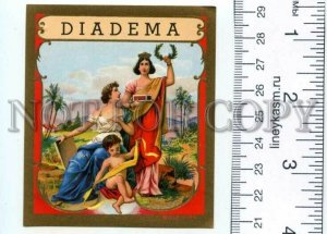 500098 DIADEMA Angel Vintage embossed cigar box label