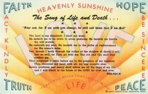 Postcard Heavenly Sunshine Happy Hearts Club Aberdeen Washington