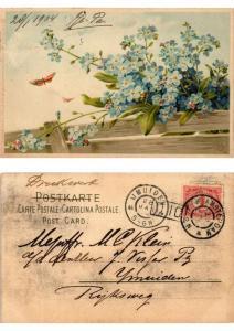 CPA Blumen am Zaun Meissner & Buch Litho Serie 1207 (730505)