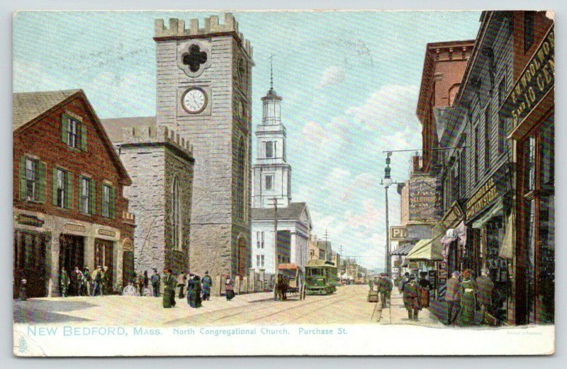 New Bedford MA~North Congregational Church~Purchase Street~FW Woolworth~TUCK