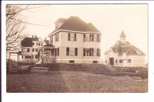 Real Photo, Three Larges Houses,  Mrs Robert Holmes from Mrs Gardner Mrtcalf.
