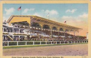 Grand Stand Showing Crowds Pimlico Race Track Baltimore Maryland 1934