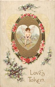 B26/ Valentine's Day Love Holiday Postcard c1910 Chester West Virginia Cupid 7