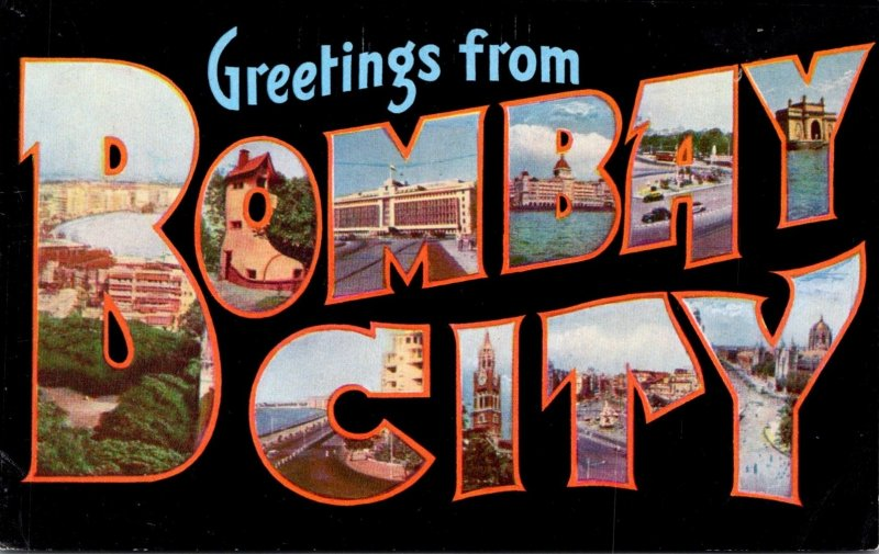 India Greetings From Bombay City