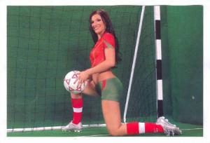Soccer Girl wearing only body paint, 1990s #44