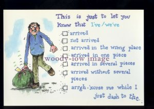 BE204 - Tick Boxes, of how I/We arrived on Holiday!! - Large Besley Comic P'card