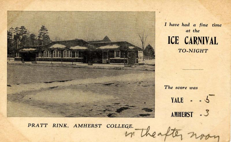 MA - Amherst. Amherst College, Pratt Rink. Ice Carnival, 1909