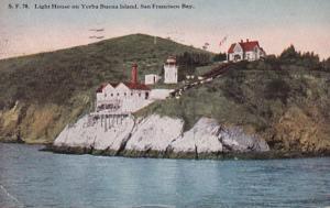 California San Francisco Lighthouse On Yerba Buena Island 1917