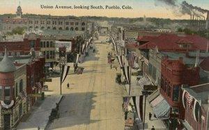 PUEBLO , Colorado, 1900-10s ; Union Avenue Looking South