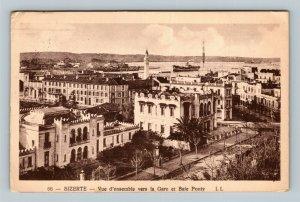 BIZERTE - Vue d'emsemble vers la Gare et Baie Ponty Cartolina Postale Italiana