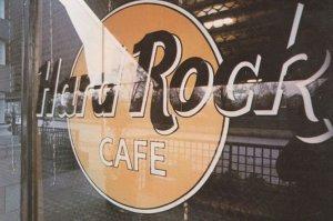 London Hard Rock Cafe Advertising Postcard