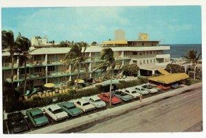 53017 Gold Coast Hotel Vintage Fort Lauderdale Postcard with Rates on Back 1968