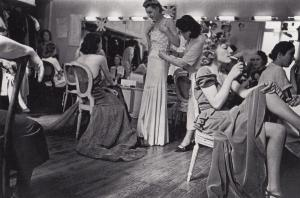 French 1930s Actresses Smoking Backstage Theatre Dress Parade France Postcard
