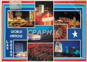 Postcard Modern World Famous Las Vegas