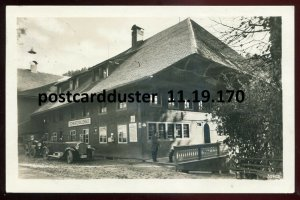 170 - GERMANY Todtmoos 1935 Gasthaus Pension. Old Cars. Real Photo Postcard