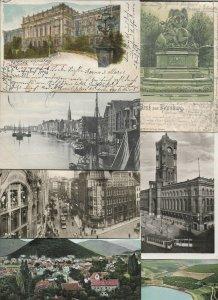 Germany Bremen Berlin Hamburg Oberammergau And More Lot of 20 Postcards 01.07