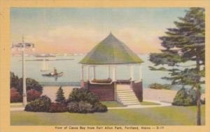 Maine Portland View Of Casco Bay From Fort Allen Park Dexter Press
