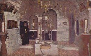 Jacob's Well, Interior of  and Eastern Orthodox monastery of the same name, I...