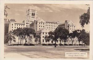 Illinois Chicago International House 1937 Real Photo RPPC