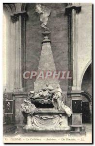 Old Postcard The Vienna Cathedral Interior A tomb