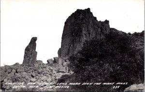 Kneeling Nun Santa Rita New Mexico vintage postcard